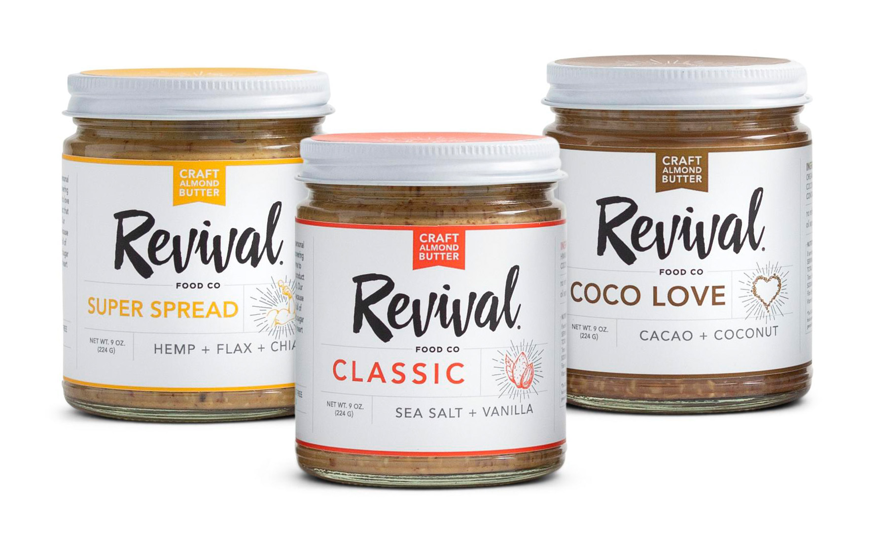 Revival almond butters