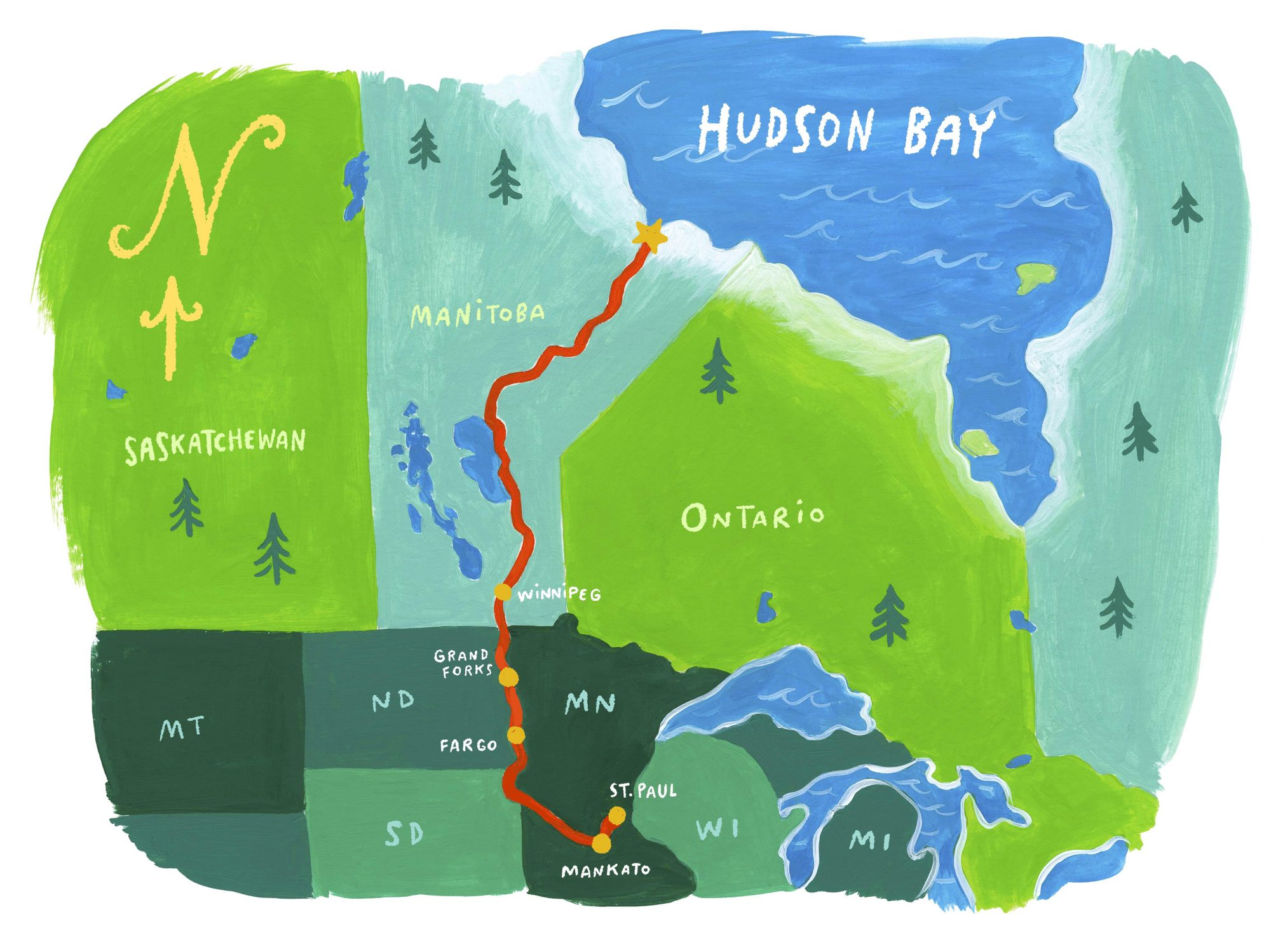 Hudson Bay Bound illustration