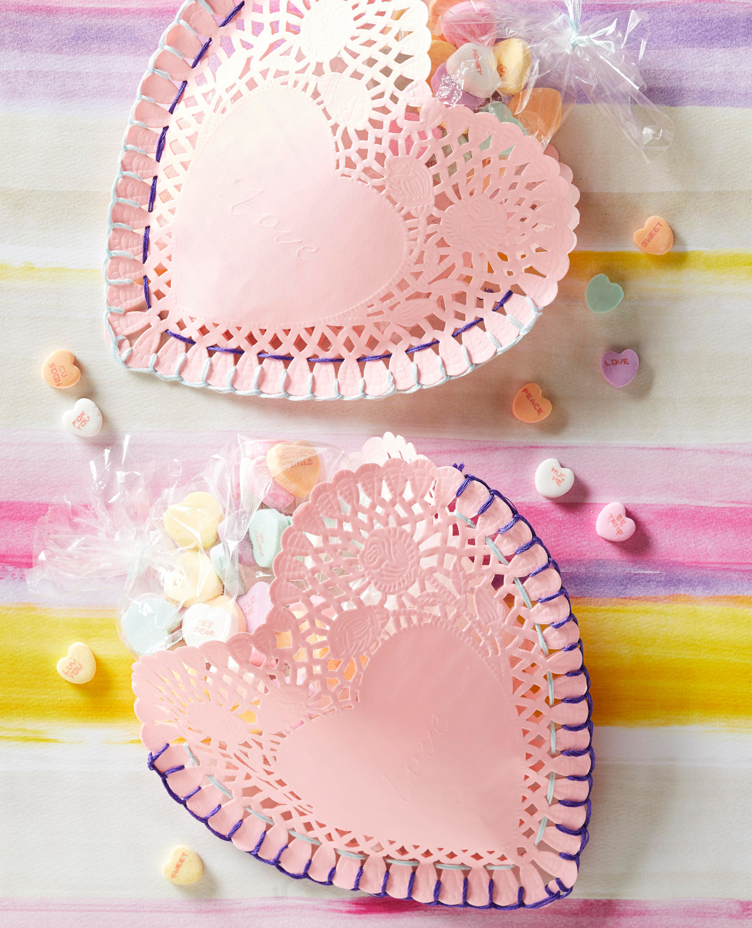 Valentine's Day doily craft