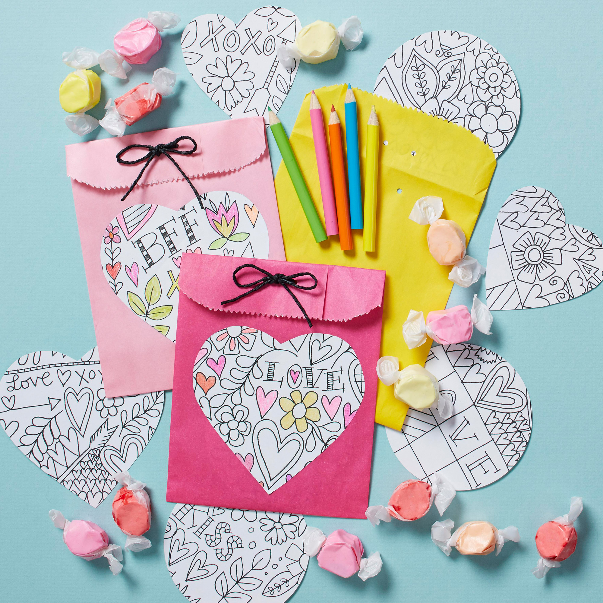 Valentine's Day craft coloring