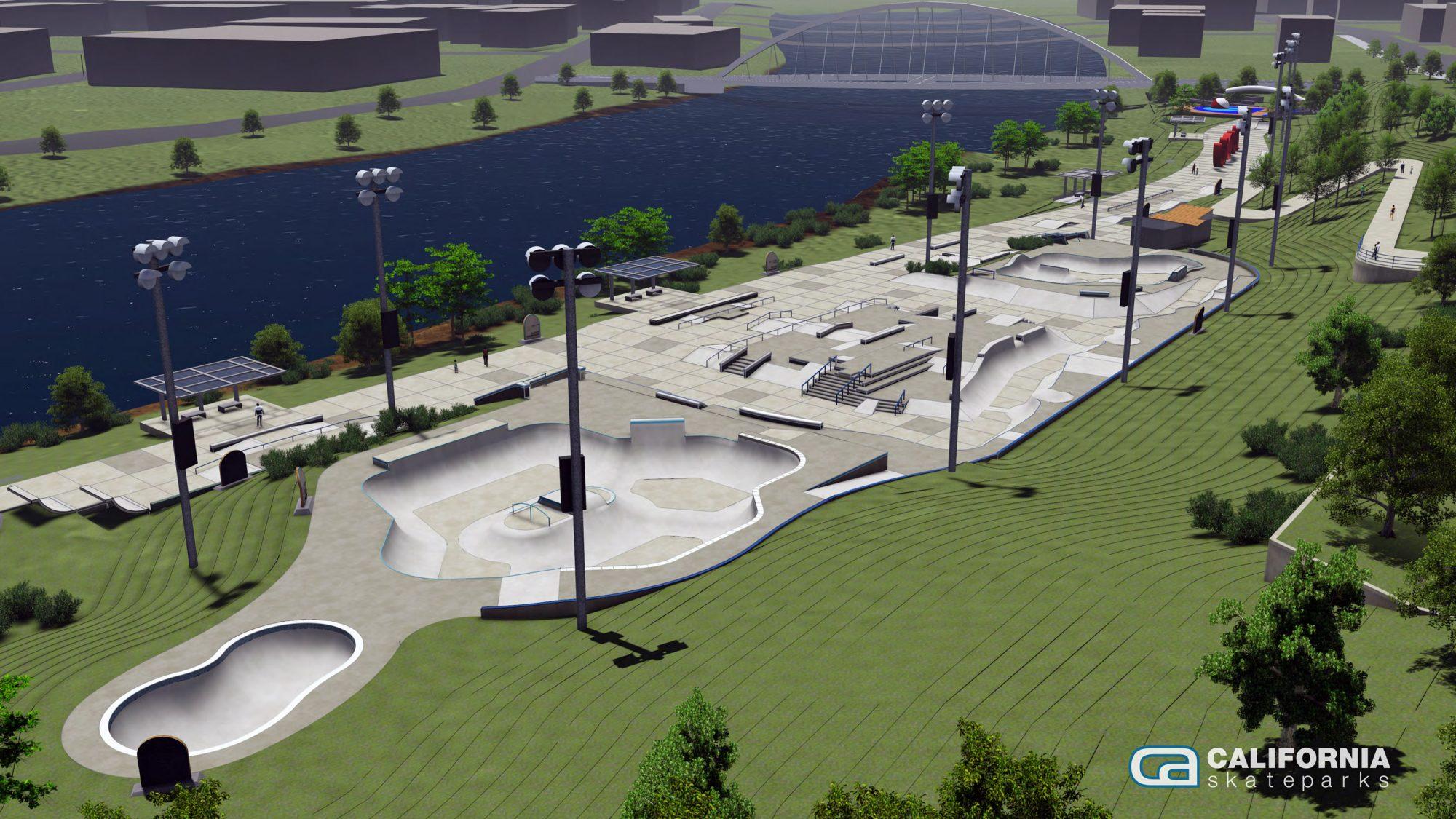 Lauridsen Skatepark rendering
