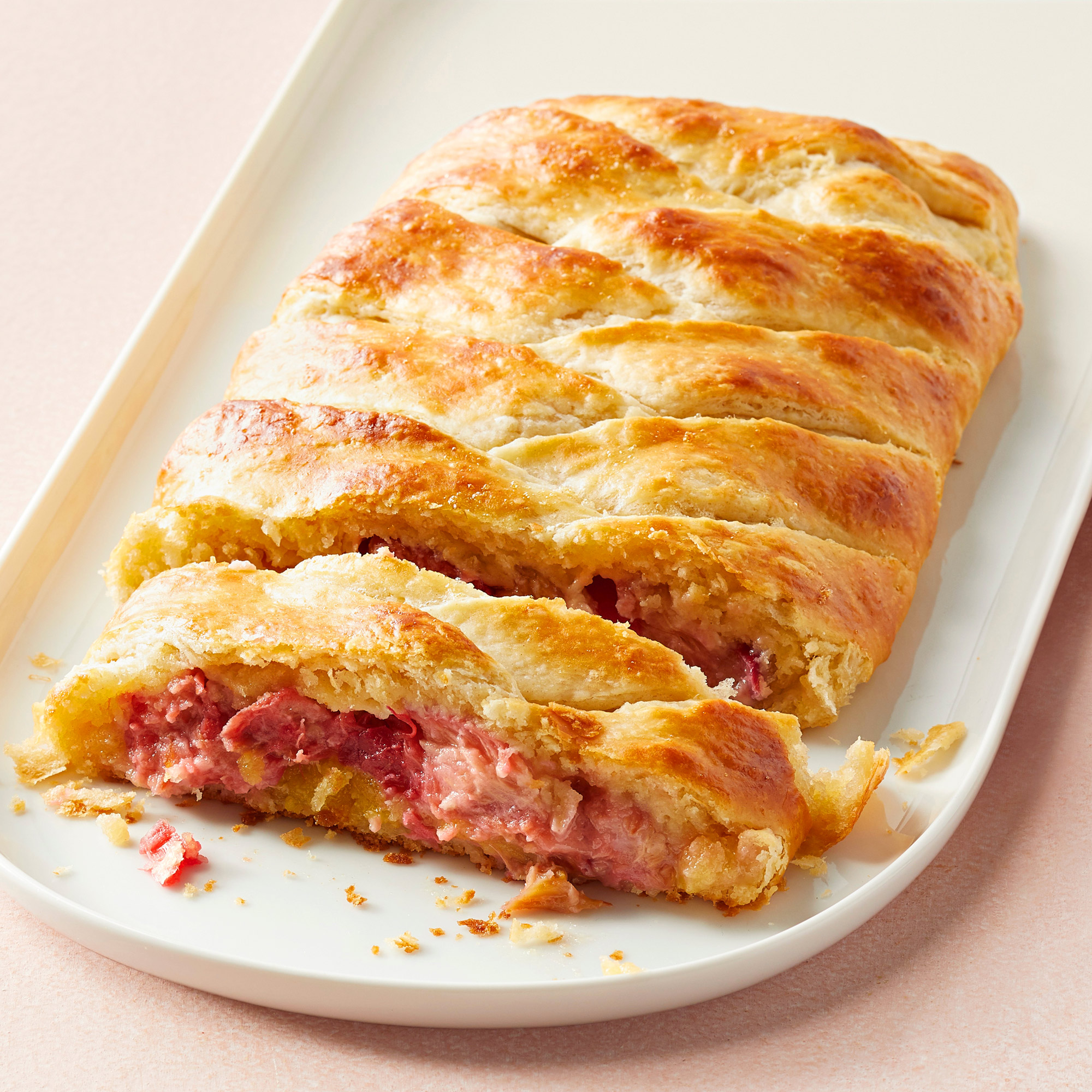 Rhubarb-Almond Danish Braid