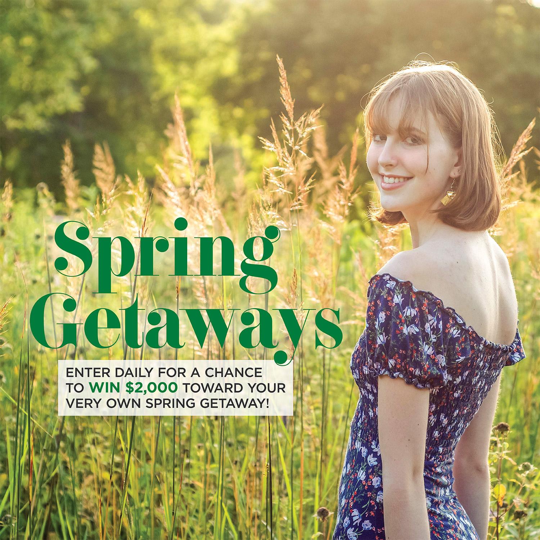 Spring getaways sweepstakes