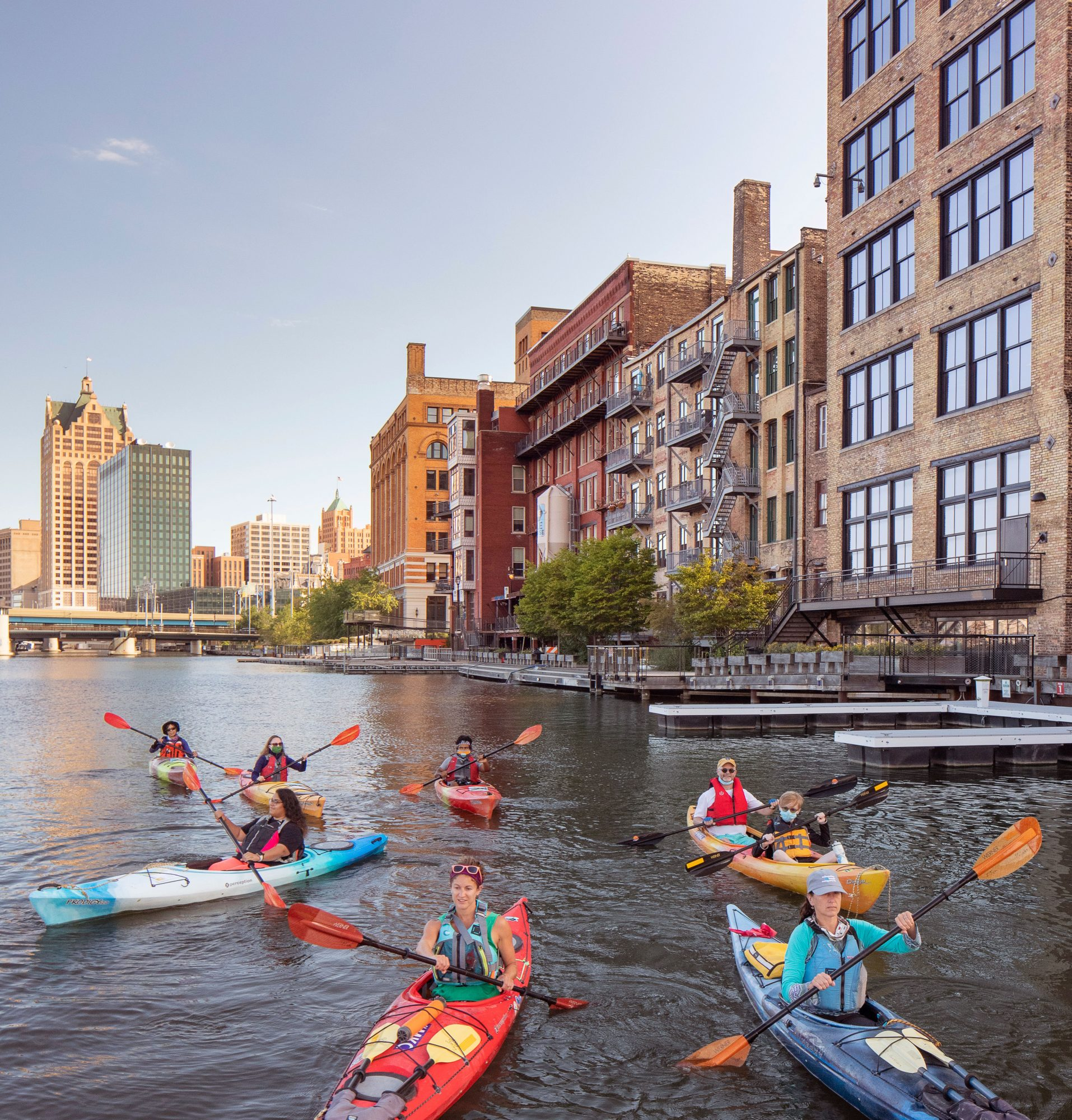 Paddling on the Milwaukee River