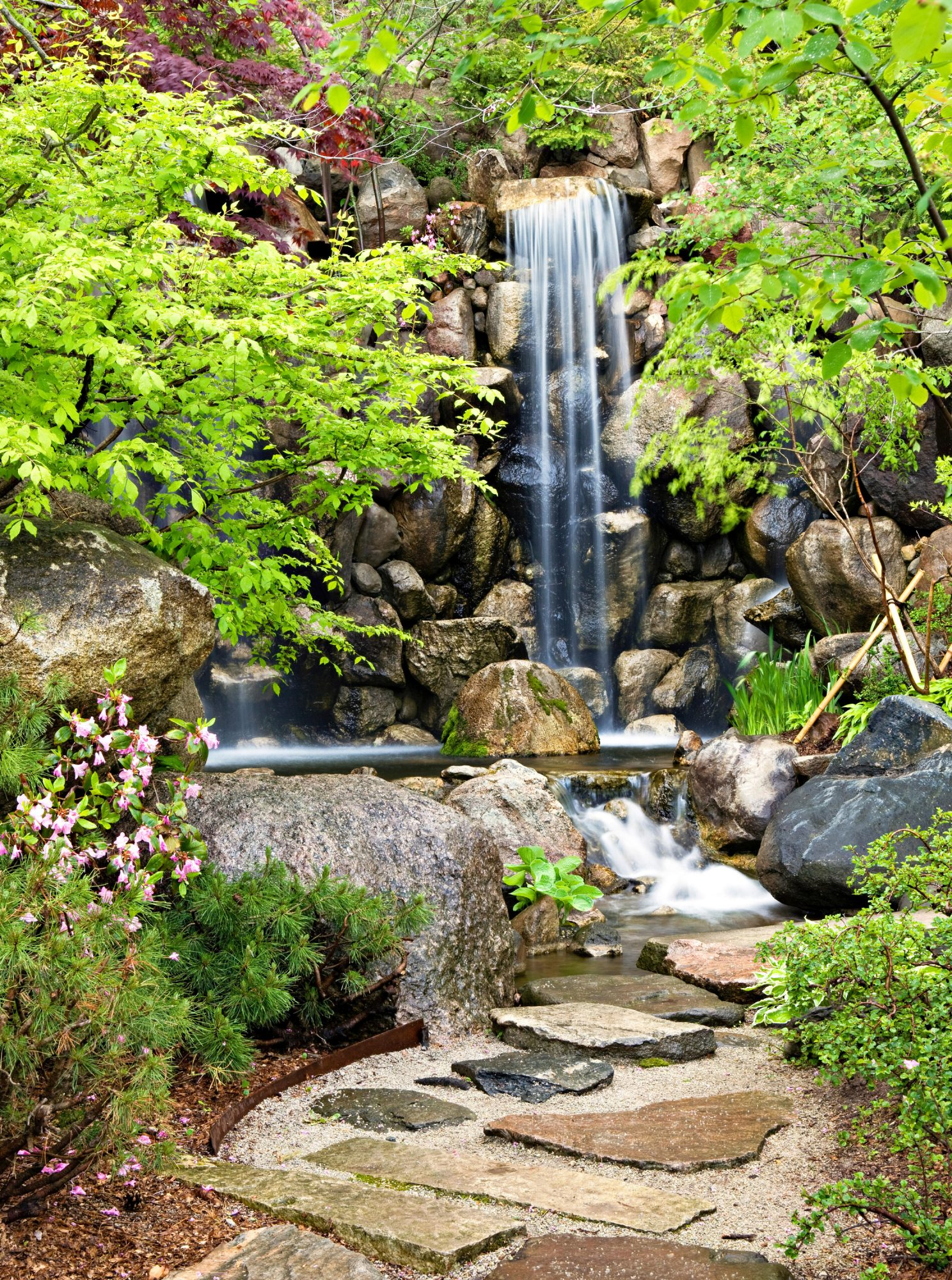 West Waterfall, Anderson Japanese Gardens Rockford Illinois