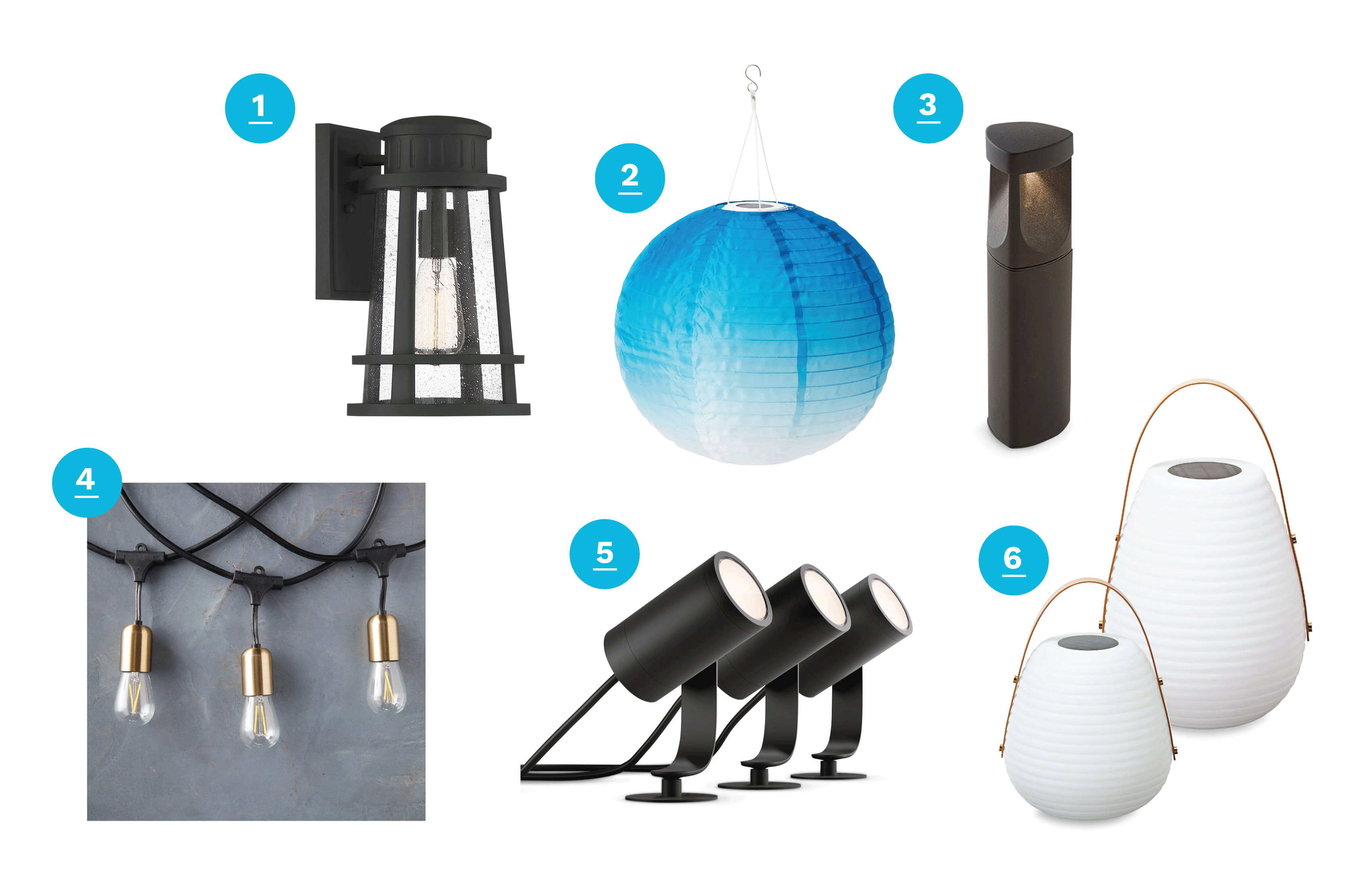 Patio, Porch, and Deck Accessories Outdoor Lighting