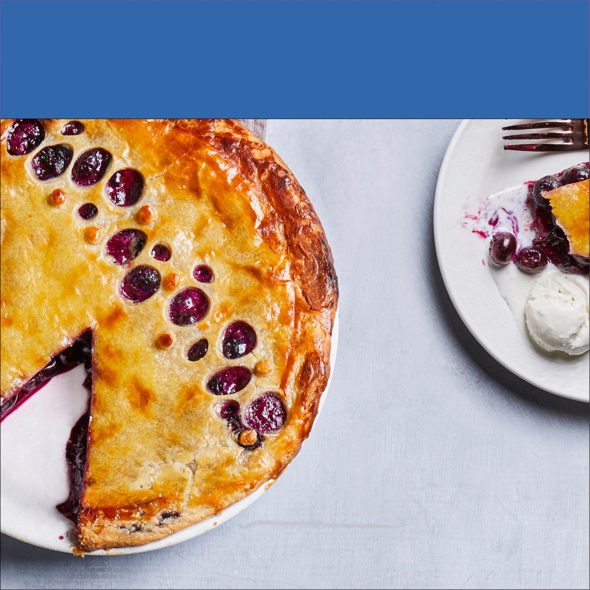 Jammy Blueberry Pie