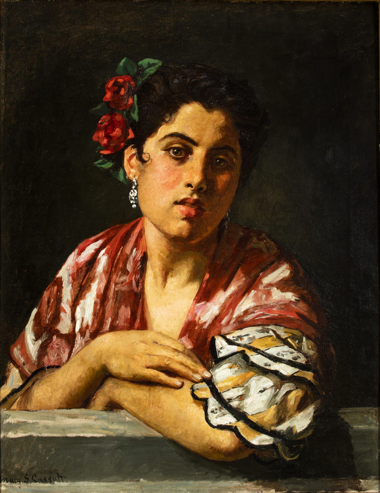 Spanish Girl Leaning on a Window Sill, Mary Cassatt