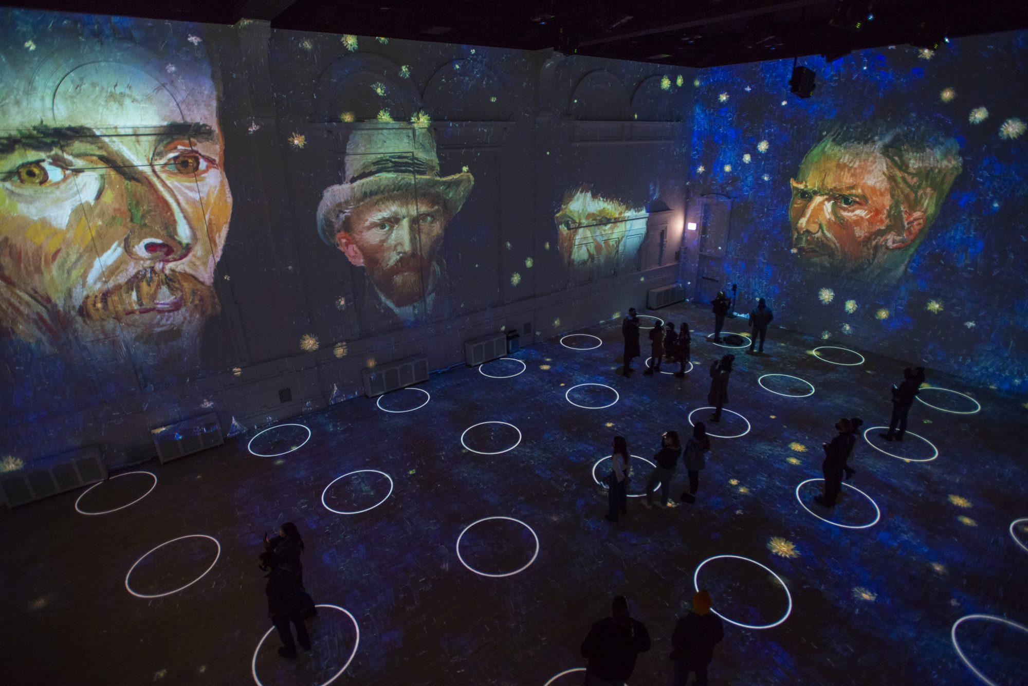 Immersive Van Gogh exhibit - Chicago, self-portraits of the artist