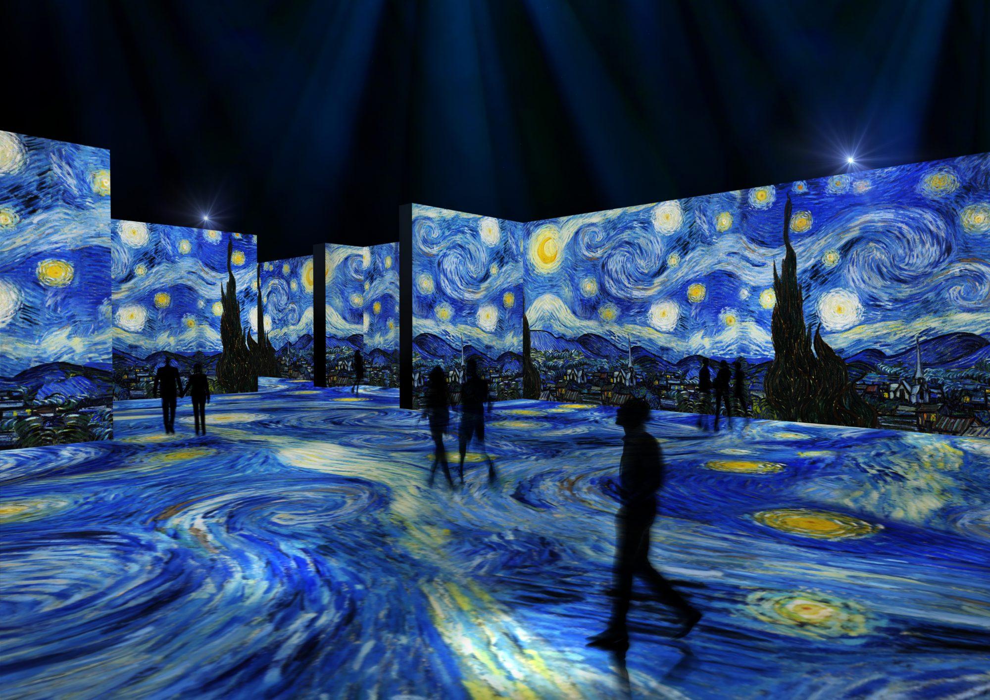 The LUME Indianapolis, immersive exhibit of Van Gogh's Starry Night