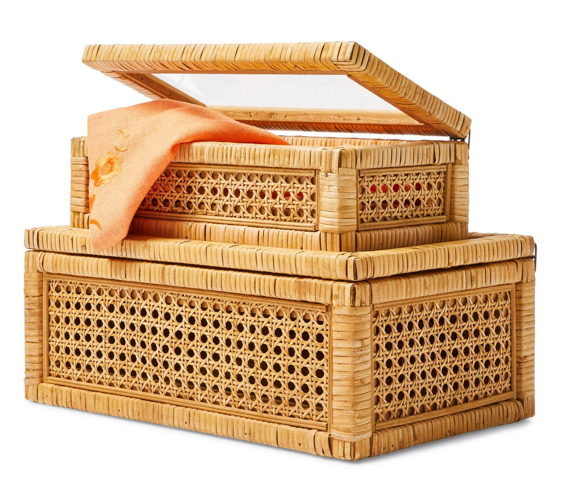 Rattan Display Boxes