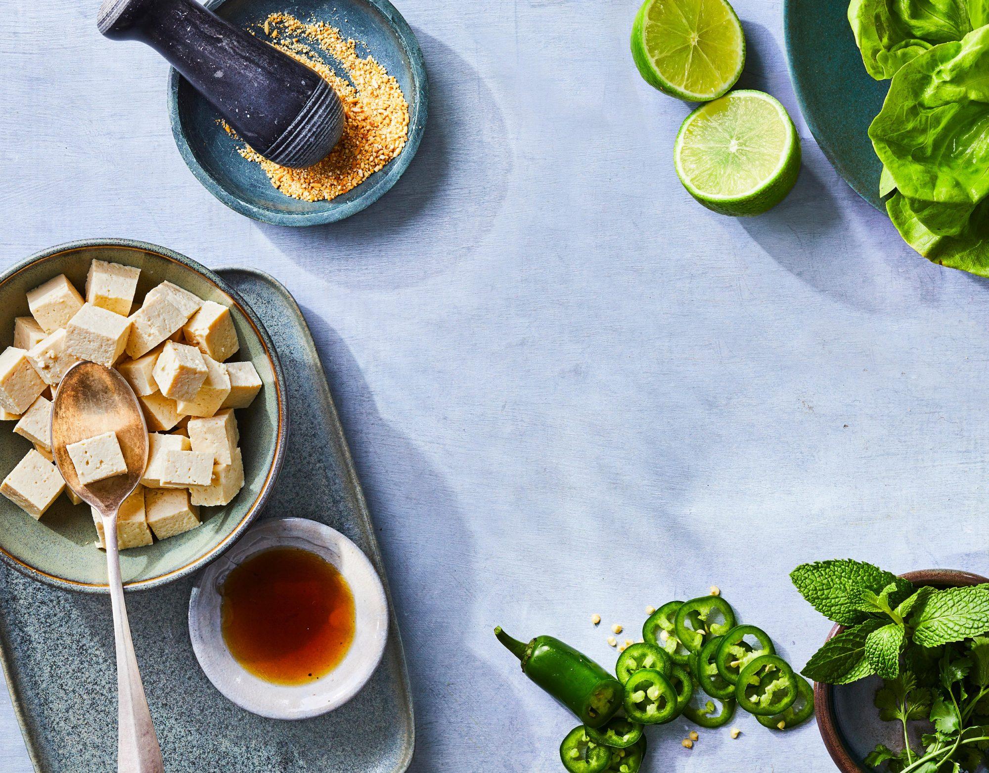 Laap Tofu Ingredients