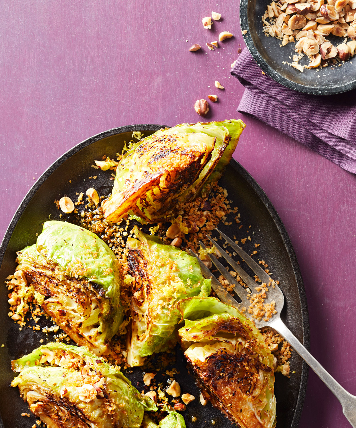 Cabbage Wedges with Toasted Panko