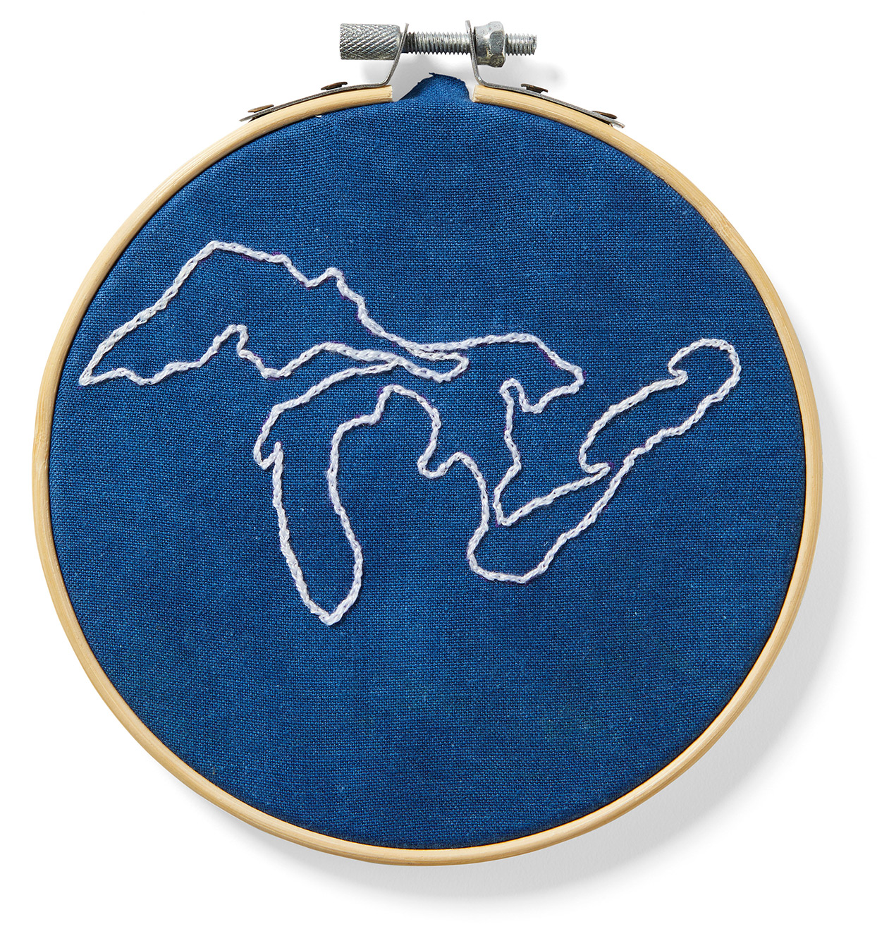 great lakes embroidery plant-dyed hoop