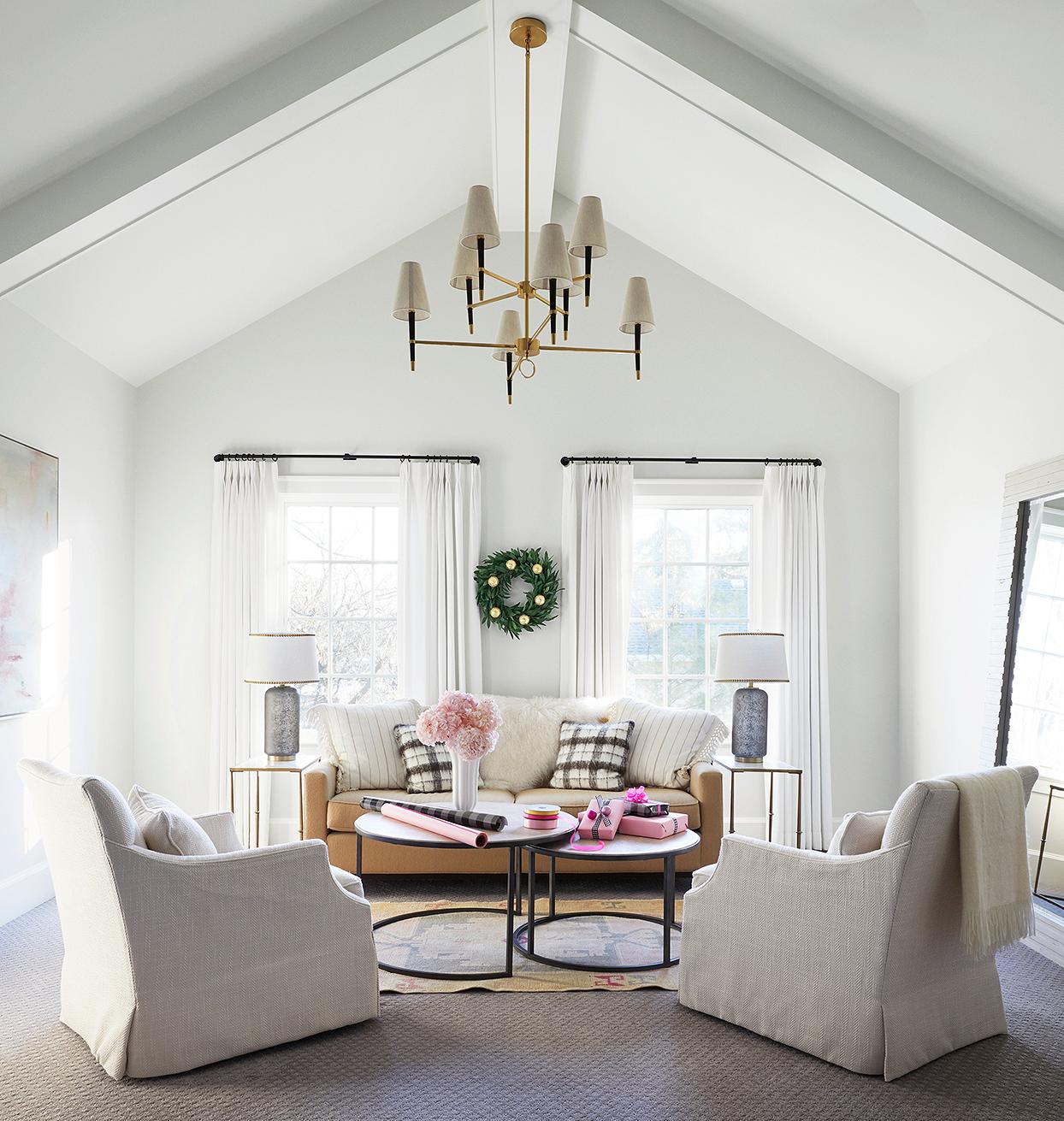 master suite bright sitting area wreath