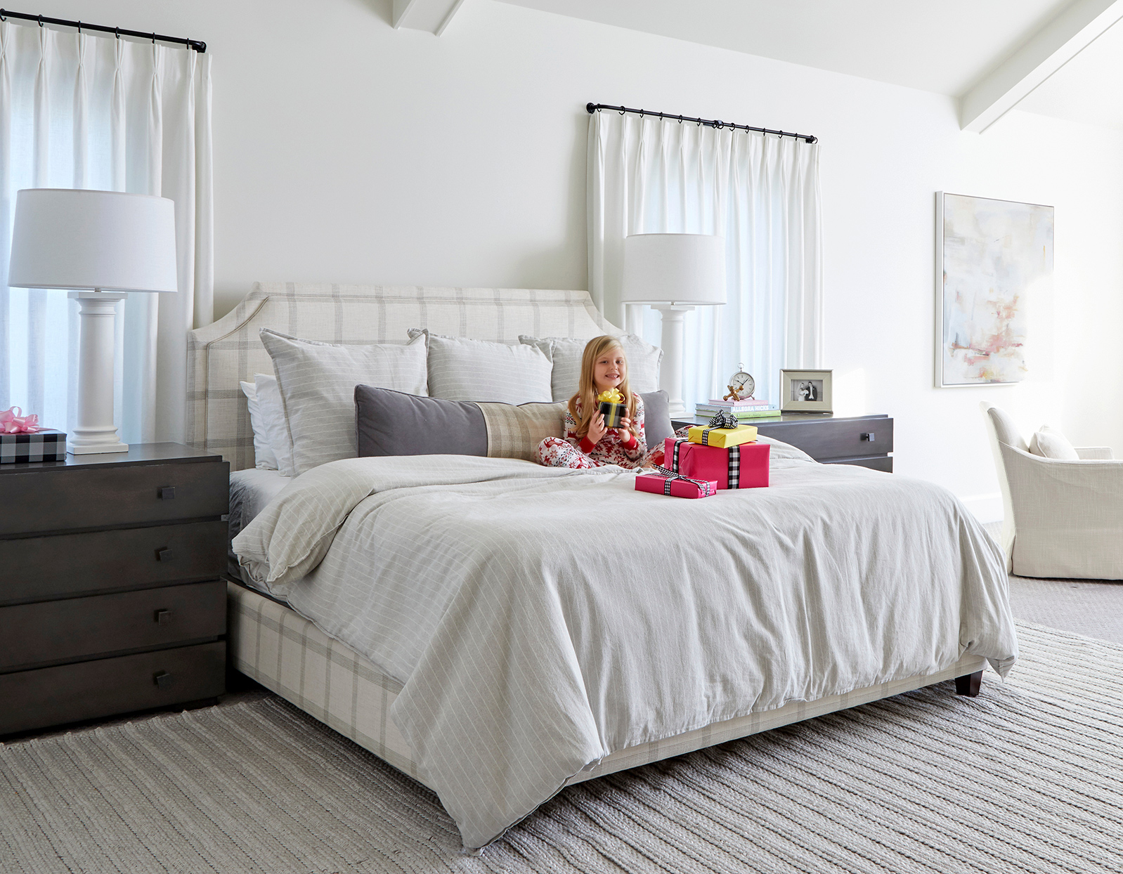 young girl white bedroom gifts bed