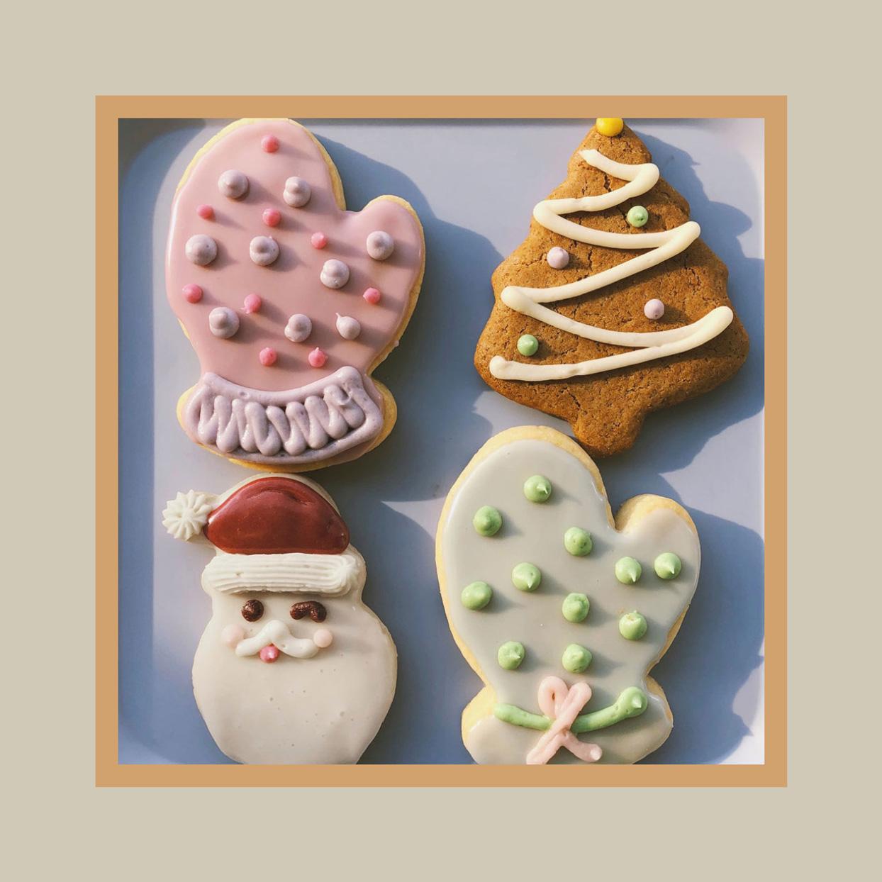 assortment of sugar cookies Rainbow Bakery