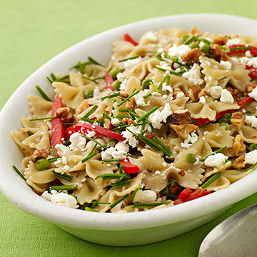 Farfalle with Peas and Goat Cheese
