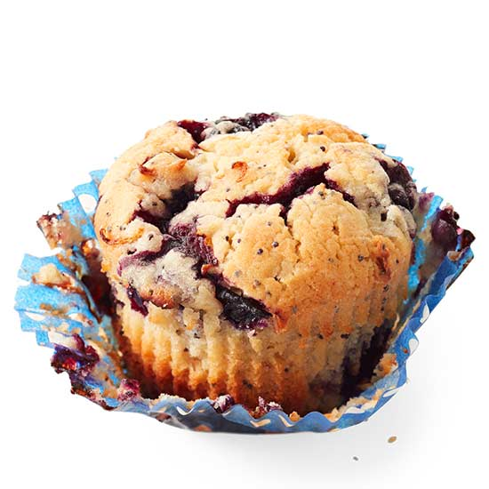 Blueberry, Lemon and Poppy Seed Muffins