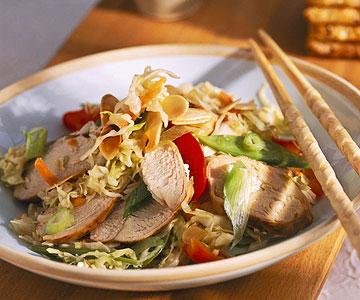 Asian Warm Chicken Slaw