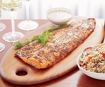 Mustard-Topped Salmon