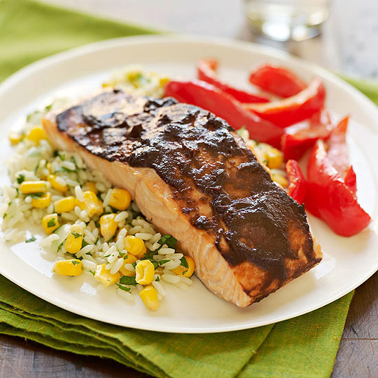 Chipotle Salmon & Southwestern Rice
