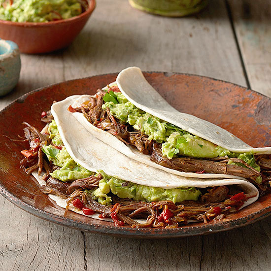 Beef Tacos with Chunky Guacamole