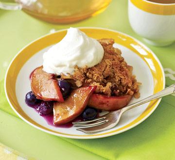Peach and Blueberry Crisp