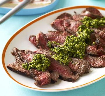 Beef & Chimichurri Sauce