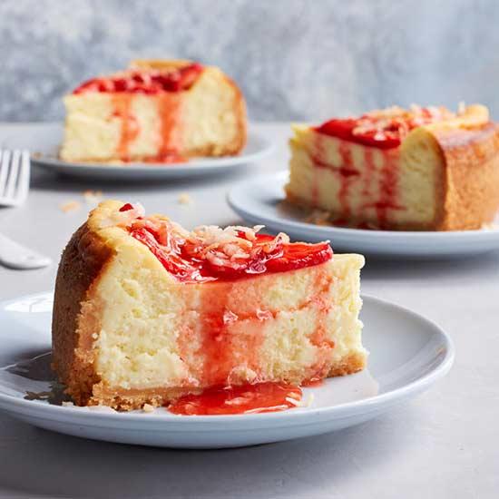 Strawberry-Coconut Cheesecake