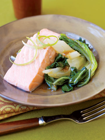 Easy Salmon and Bok Choy