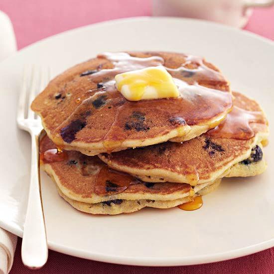 Corn & Blueberry Pancakes