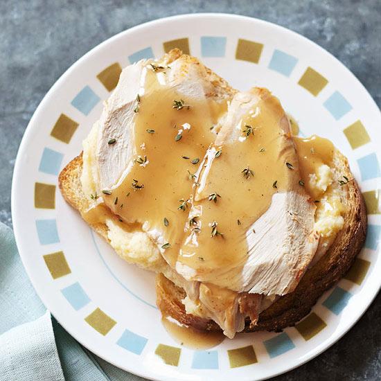 Slow-Cooker Open-Faced Turkey Sandwich