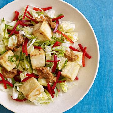 Crispy Peanut Tofu Salad