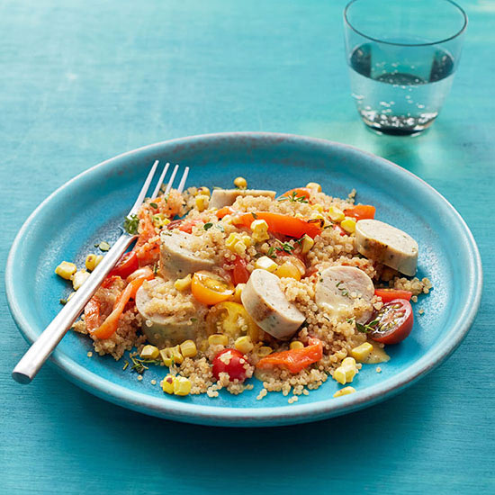 Quinoa with Summer Vegetables and Sausage