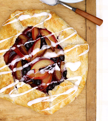 Plum and Blueberry Galette