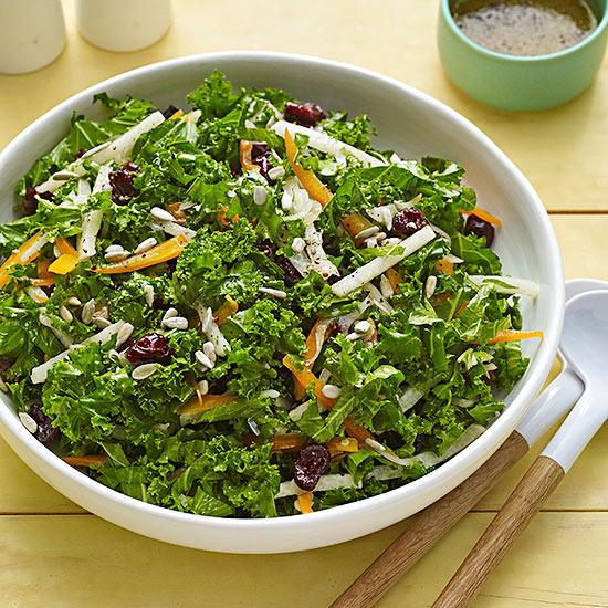 Kale and Jicama Slaw/