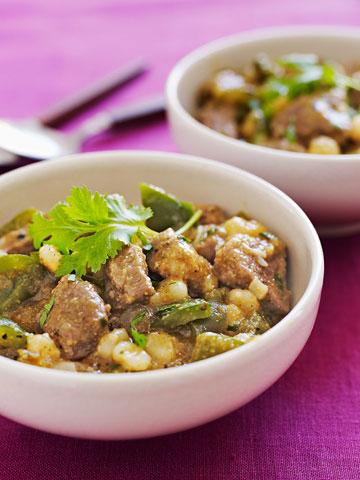 Slow-Cooker Pork & Hominy Stew