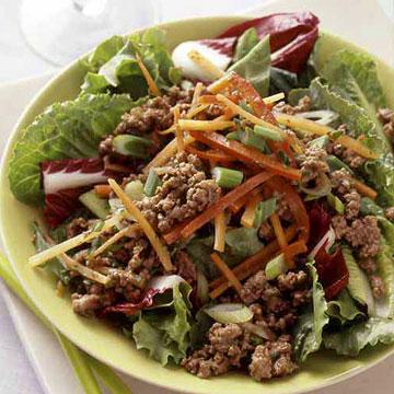 Spicy Thai Ground Beef Salad