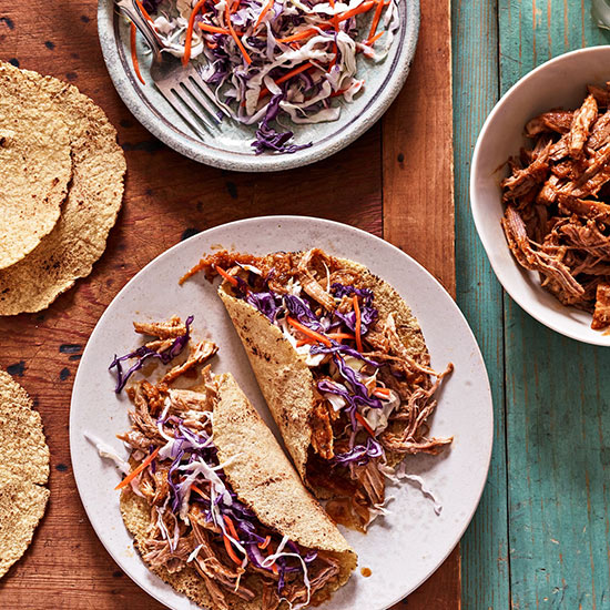Pork Tacos with Spicy Slaw