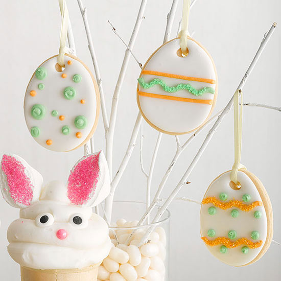 Egg Cookie Ornaments