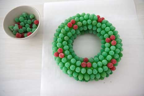 How To Make A Gumdrop Wreath