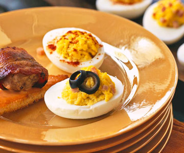 Double-Deviled Eggs