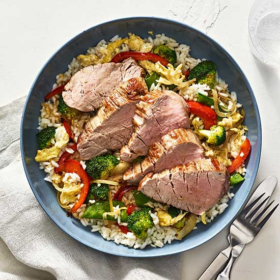 Pork and Fried Rice