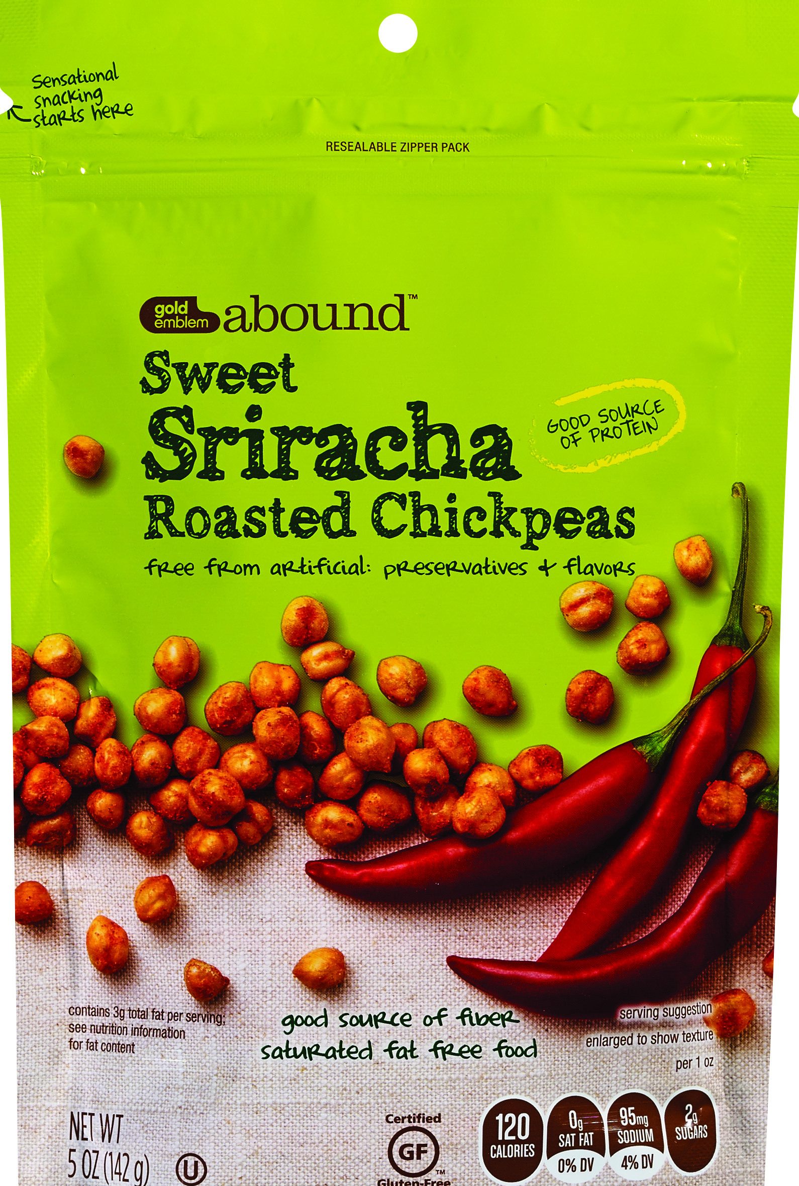 Gold Emblem Abound Sweet Sriracha Roasted Chickpeas