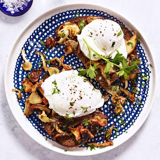 Wild Mushroom and Egg Toast