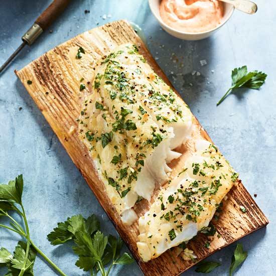 Cedar-Planked Cod