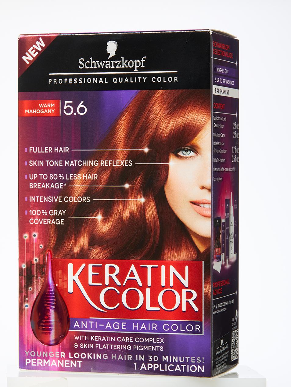 Hair Dye Box Keratin Color