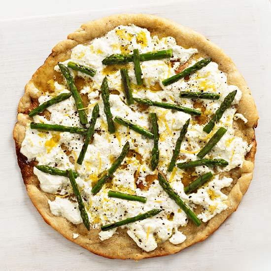 Asparagus and Ricotta Pizza