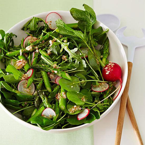 Watercress, Arugula and Asparagus Salad